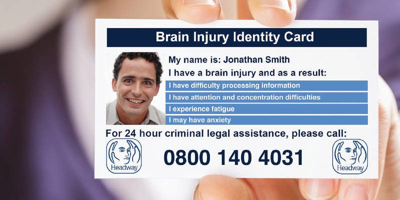 Brain injury ID cards