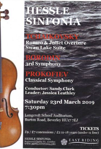 Hessle Sinfonia Concert – Update